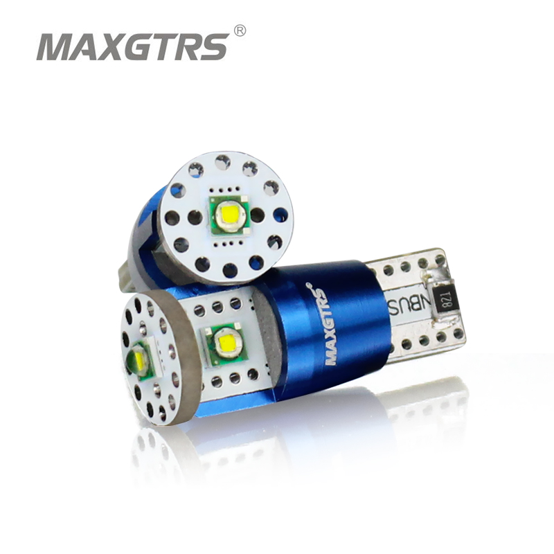 MAXGTRS 2Pcs T10 LED CANBUS Cree Chip Canbus NO ERROR W5W Led DRL Bulbs Light Xenon White High Power 15W 194 168 Car Width Lamp 1w led bulbs high power 1w led lamp pure white warm white 110 120lm 30mil taiwan genesis chip free shipping