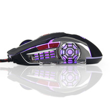 hot deal buy 2017 gaming mouse computer wired glow macro definition professional mice 6 buttons 3200dpi usb optical  for laptop desktop