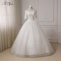2017 White Ivory Beach Wedding Dresses Vestido Novia Chiffon Plus Size Wedding Gowns Robe De Mariage