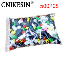 CNIKESIN 500PCS Car Mixed Universal Door Trim Panel Clip Fasteners Auto Bumper Rivet Retainer Push Engine