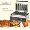 FY-216 шесть штук кукурузная Вафля производитель Ренч булочки хот-дог машина для изготовления хрустящей кукурузы соединенный коммерческий 1 ш...