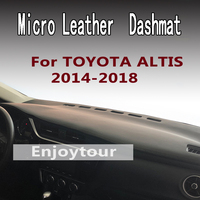 For TOYOTA COROLLA ALTIS 2014 2018 micro leather dashmat dashboard cover prevent sunlight pads dash mat 2015 2016 2017 LHD+RHD|  -