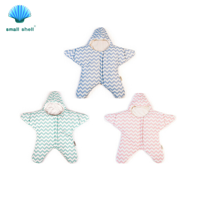 Small shell Cute starfish cartoon sleeping bag newborns winter strollers bed swaddle blanket wrap bedding envelope baby S0003