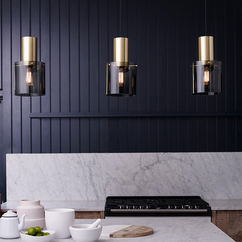 LukLoy LED Modern Nordic Pendant Lights Luxury Pendant Lamp Dining Kitchen Living Room Loft INS Hanging Lamp Pendant Light Glass