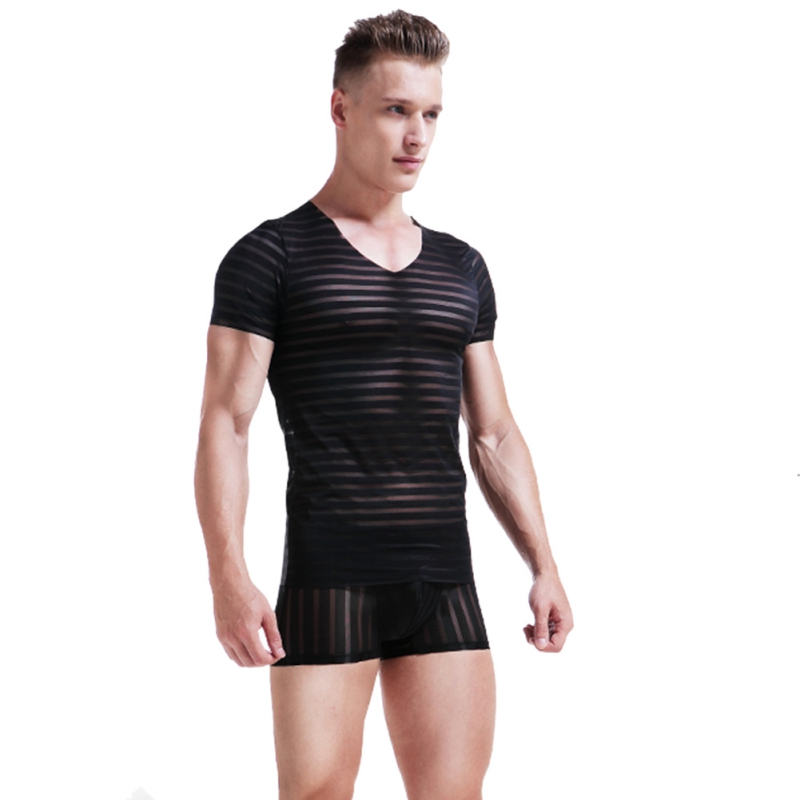 Tops & Tees T-shirts Fast Deliver 2019 New Fashion Mens Round Neck Slim Solid Color T-shirt Striped Hooded Bodybuilding Style T Shirt Men Tops Tees Jan23 Reasonable Price