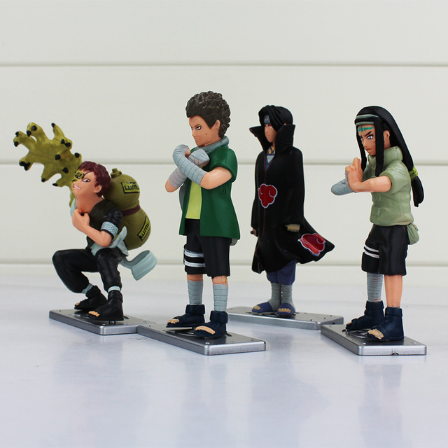 4Pcs Anime Naruto Action Figure Collectible