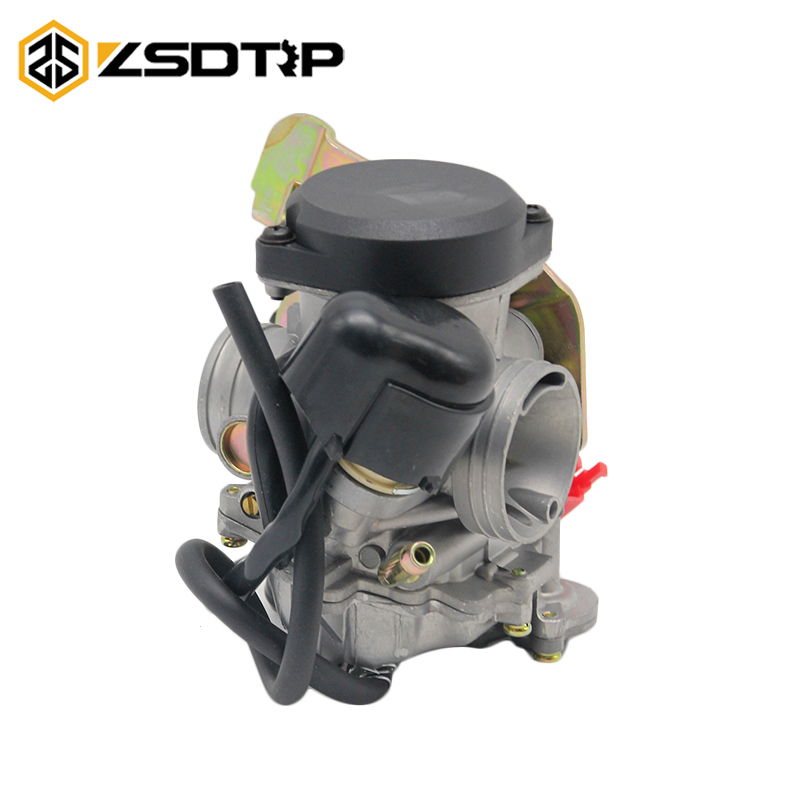 ZSDTRP Motorcycle 26mm Carburador Carburetor Fit For cvk 26 CVK26 Replace Kehin For GY6 150cc~250cc Racing Scooter cvk26 nibbi 27 28 30mm pe27 28 30 round side carburetor fit to racing motor gy6 refires large caliber jog rsz cvk free shipping