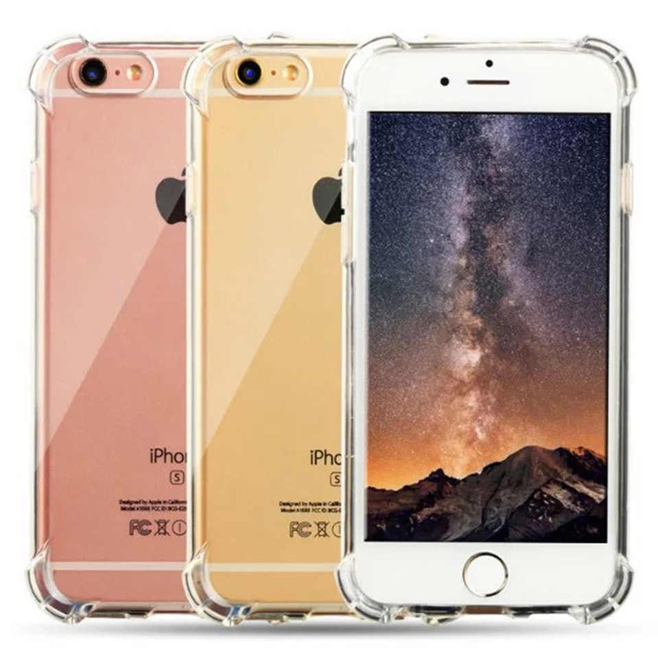 Super funda 3D a prueba de golpes para iphone 6 6s 7 8 Plus funda de silicona suave protección completa para Apple X RedMi 3 s 4A 5A 4X Note 3 4