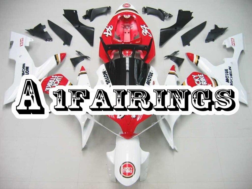 Housses de moto complètes pour Yamaha R1 année 2004 2005 2006 04 05 06 carènes d'injection plastique ABS Sportbike rouge blanc élégant
