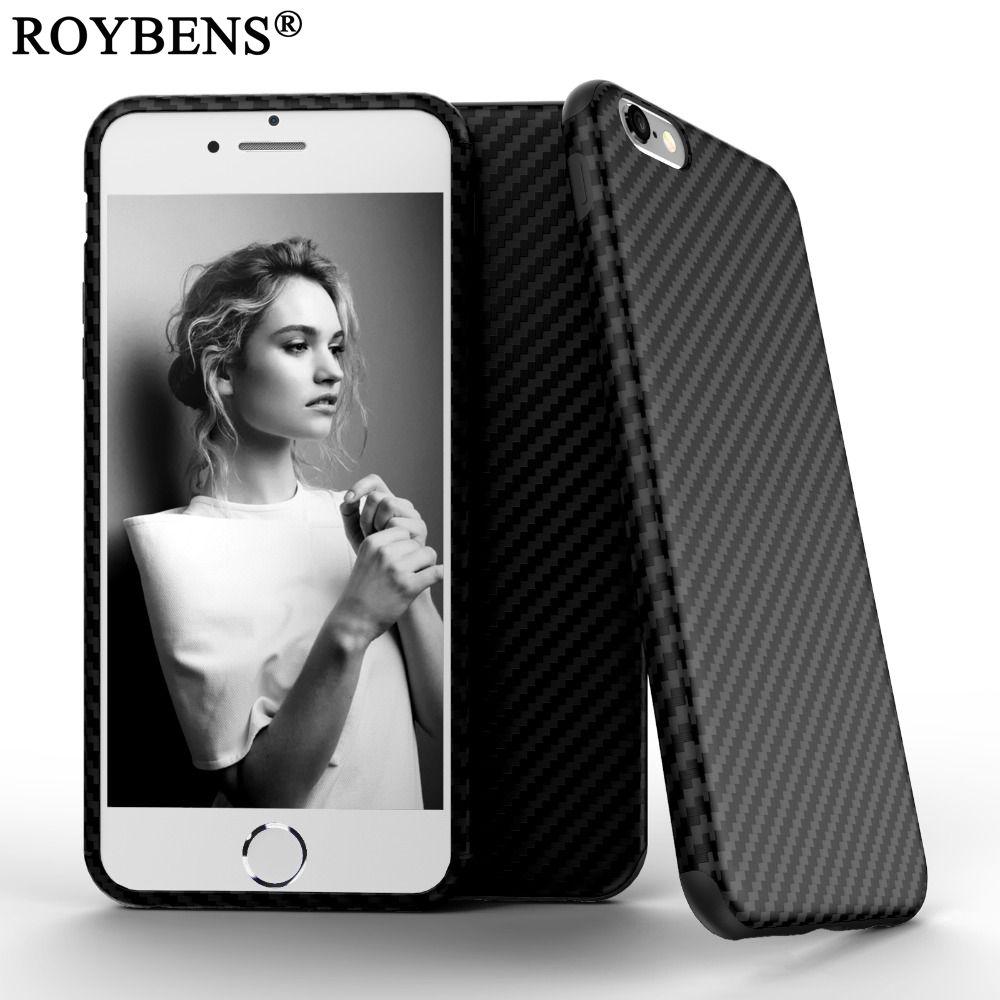 Original 3D Tire Textured Carbon Fiber Case For Iphone6 6S Plus 5.5 / For Iphone 7 / 7 Plus Soft Matte Cases Dual Layer Cover
