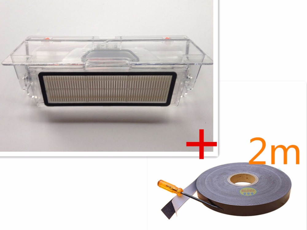 1 * dust box + 1 * Filter +2m Virtual tape Protective wall for xiaomi mi robot vacuum cleaner mi robot xiaomi robotisc Sweeper xiaomi robot vacuum barrier tape protective replacement 2 meters for mi robot vacuum cleaner parts