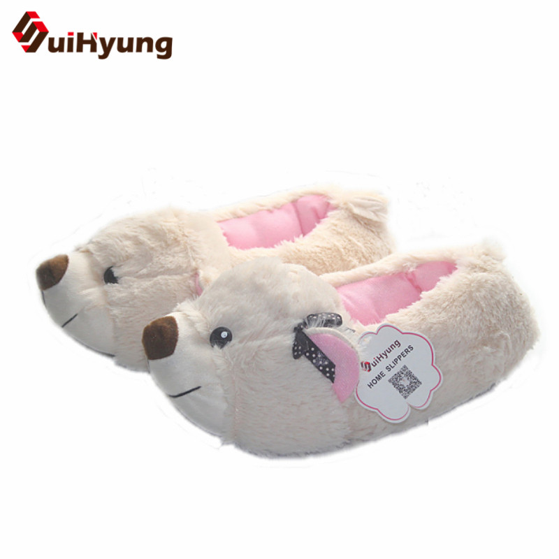 Winter New Cartoon Cotton Slippers Female Male Cute Puppy Indoor Shoes Plush Warm Soft Bottom Non-slip Home Floor Slippers fashion autumn and winter indoor home lovers cotton drag floor plush slippers female slip resistant