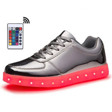 Remote Led Light Up Shoes Mens 7 Colorful Fluorescent Luminous With USB Women Rechargeable Boy & Girls Sneakers SIZE 35-46