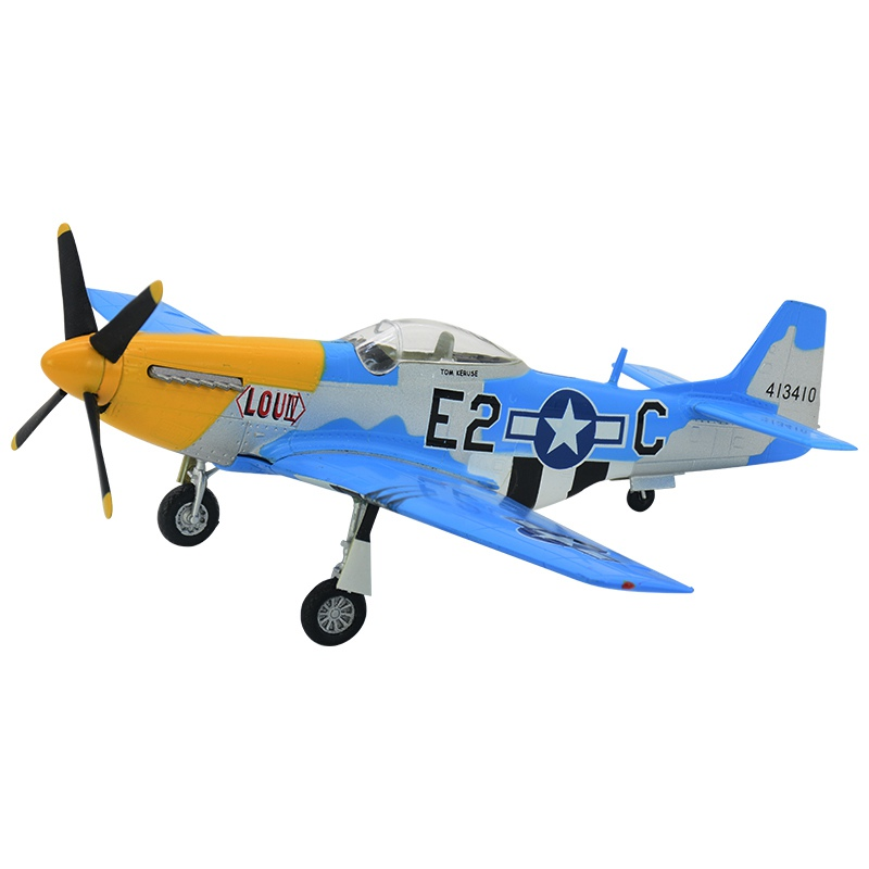 1:72 scale pre-built North American Mustang P-51 WWII bomber P-51D aircraft NAA fighter hobby collectible finished plastic model