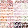 40 unids nueva transferencia de agua de impresión flor de la belleza diseños Nail Stickers adhesivos en las uñas consejos de belleza decoraciones NC082