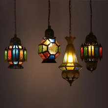 цены Mediterranean industrial retro Morocco Iron Pendant Lights Creative cafe bar restaurant hanging light Vintage loft Pendant Lamps