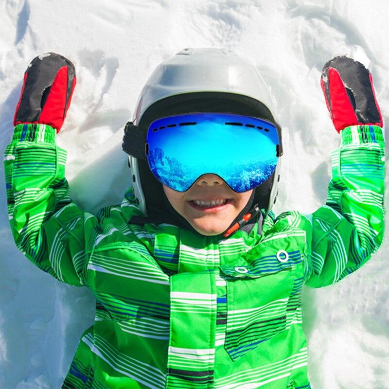 89890cc679 VANREE marca gafas de esquí doble lente UV400 anti-niebla gafas de esquí  niños máscara
