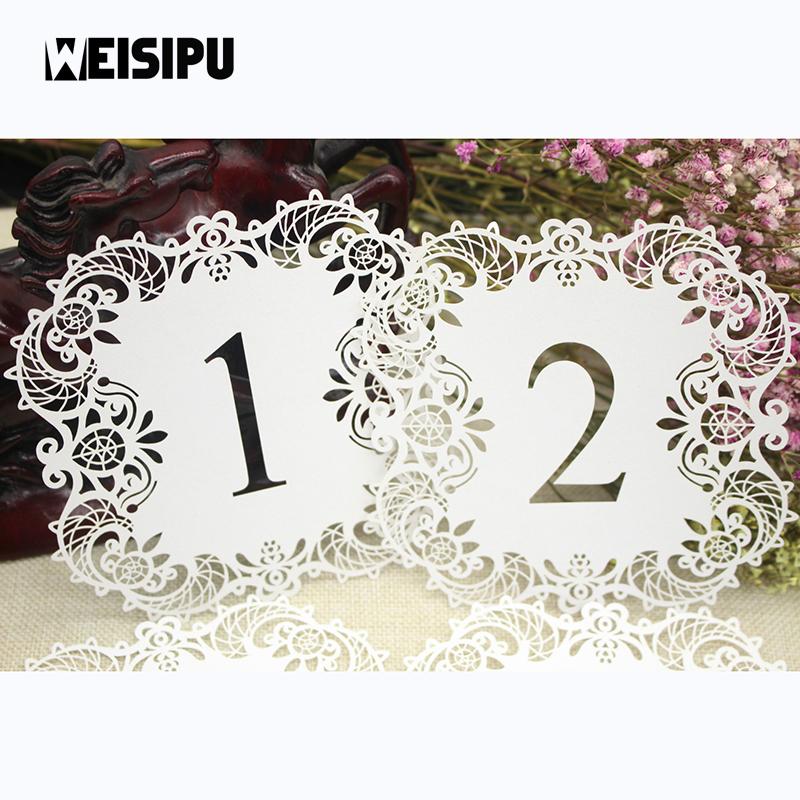 US $4 67 |10pcs/set Number Wedding Table Cards Hollow Laser Cut Card  Numbers Vintage Wedding Decoration Event Party Supplies Hot Sale-in Party  DIY