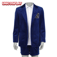 Band AC DC Cosplay Costume Blue Short Pants Full Set Suit