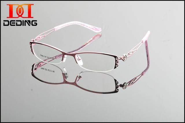 2015 novo Design de Metal acetato templo Frame da liga miopia óculos ópticos óculos de armação mulheres unissex óculos óculos DD0863