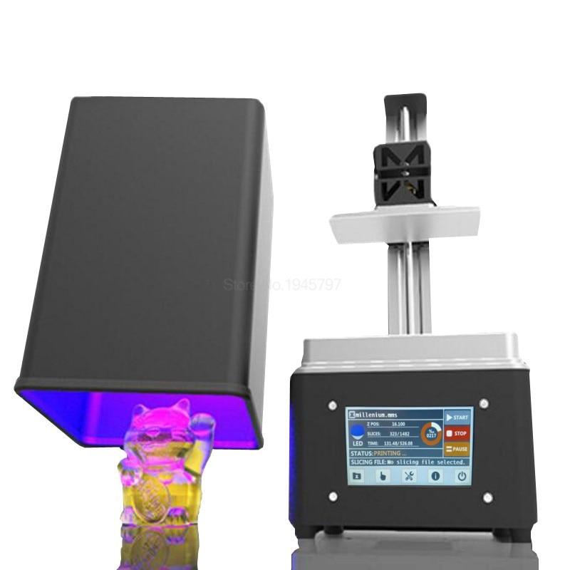 Micromake L2 wifi UV DLP 3d printer 4.3'' touch screen sla lcd Impresora with large print volume 108*65*200mm Ring dentistry цена