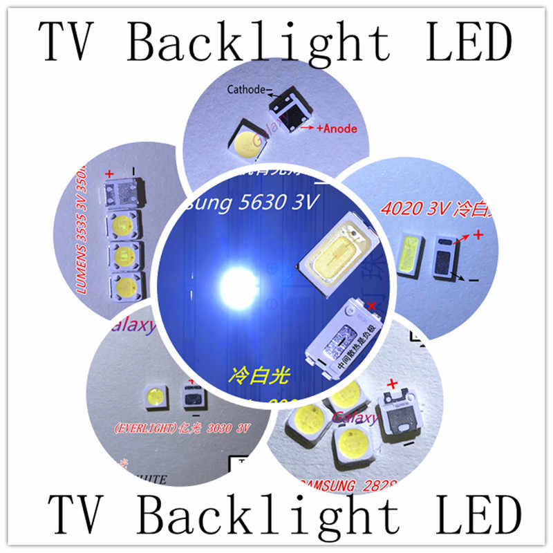 Para LG tv led retroiluminación 8520, 2835, 3030, 3535, 4020 3V 6V 3020, 3014, 4014, 3537, 7020, 7030, 7032, 2828, 3228, 6030 blanco