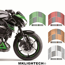 For Z 800 Motorcycle FIT for kawasaki Z800 12 X Thick Edge Outer Rim Sticker Stripe Wheel Decals