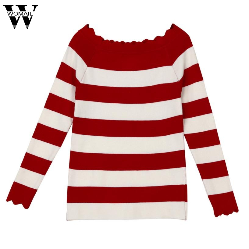2017 NEW Fashion Casual womens autumn stripes sweaters crochet knit top sweaters winter clothes woman cardigans sept21 m30