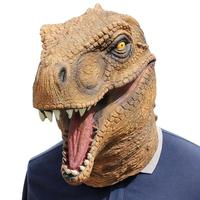 HIGH quality Halloween Mask Fancy Emulsion Dress Party Props Dinosaur Headgear Head Cover for Men and Women