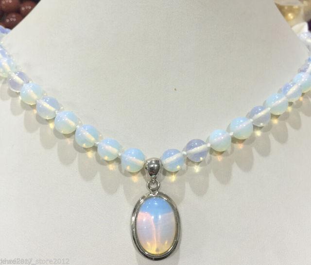Hot sell->>>>> >@@ venda Quente novo Estilo New Opal Opalite Pedra Cura Reiki Chakra Pingente Colar-Top qualidade frete grátis