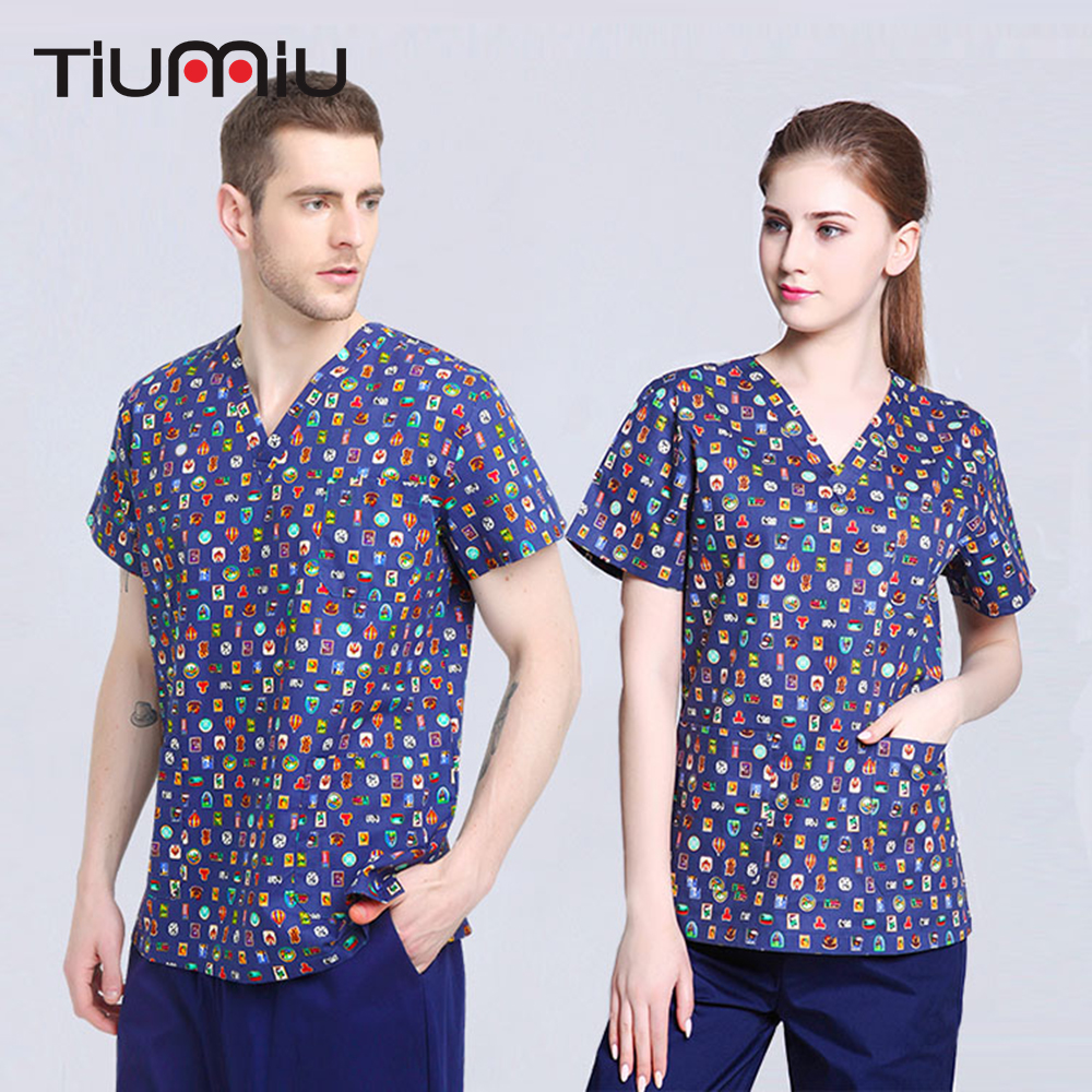 Independent Medical Scrub Men Women Top Tunic Uniform Nurse Hospital Tops Medical Vest 2019 New Fashion Style Online Clothing, Shoes & Accessories Business & Industrial