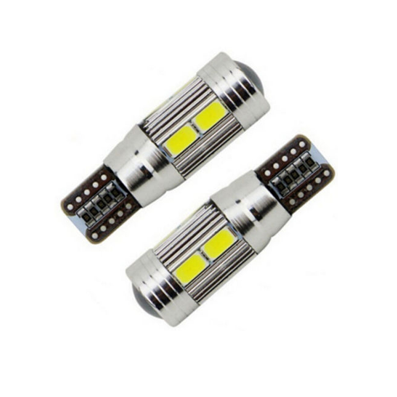 2pcs/pack CANBUS White Car Wedge Side Dome Door LED Light Lamp 10 SMD T10 194 W5W 5630 Interior Light