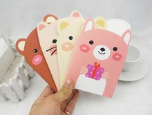 B036 Korean cute little bear graffiti notebook  A6 Notepad pad