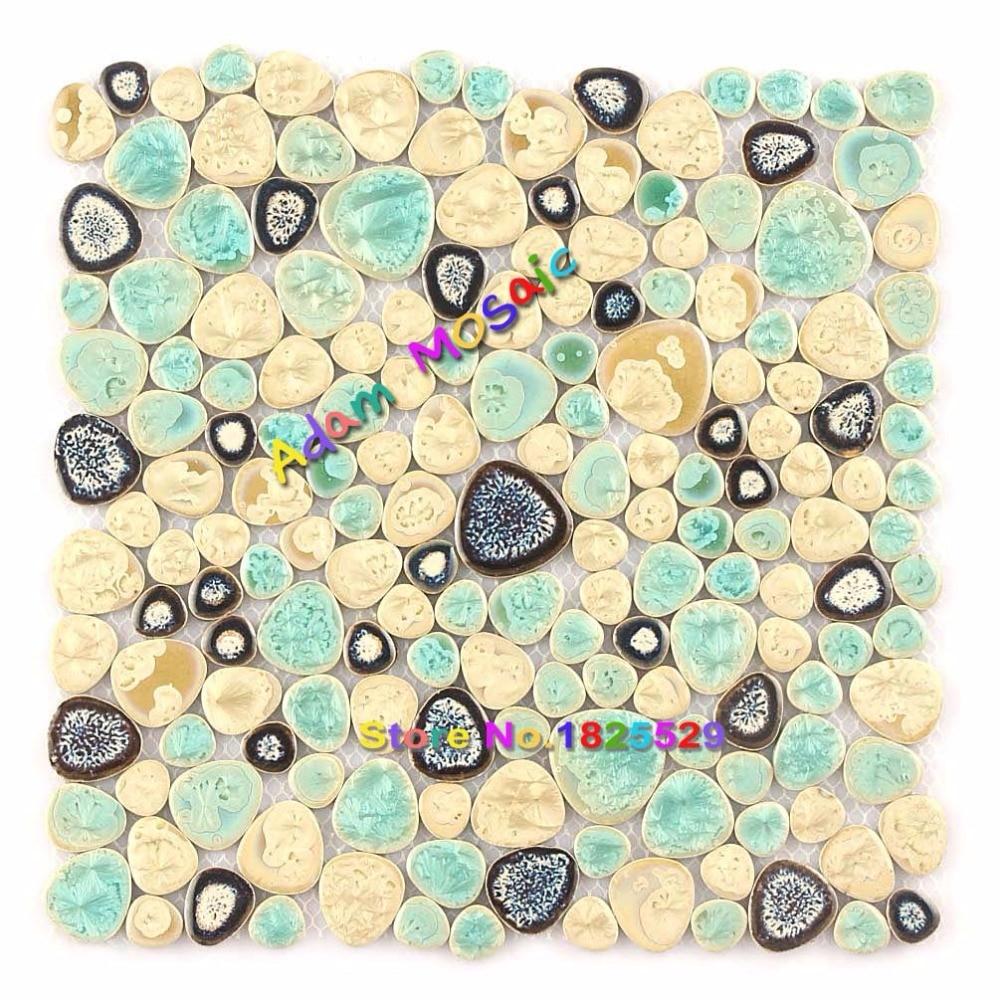 Swimming Pool Ceramic Tile Shower Wall Pebble Tiger Skin Mosaic Art ...