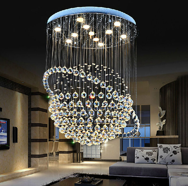 Kristall kronleuchter wohnzimmer moderne einfache schlafzimmer lampe ...