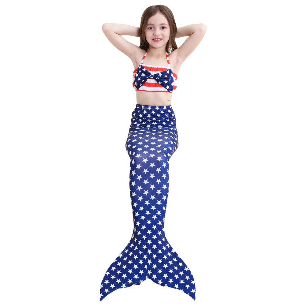 Baby Girls Kid Mermaid Tail Dress Costume Mermaid Tail Cosplay Costume Swimsuit Mermaid Costume Cloth Tail Without Monofin