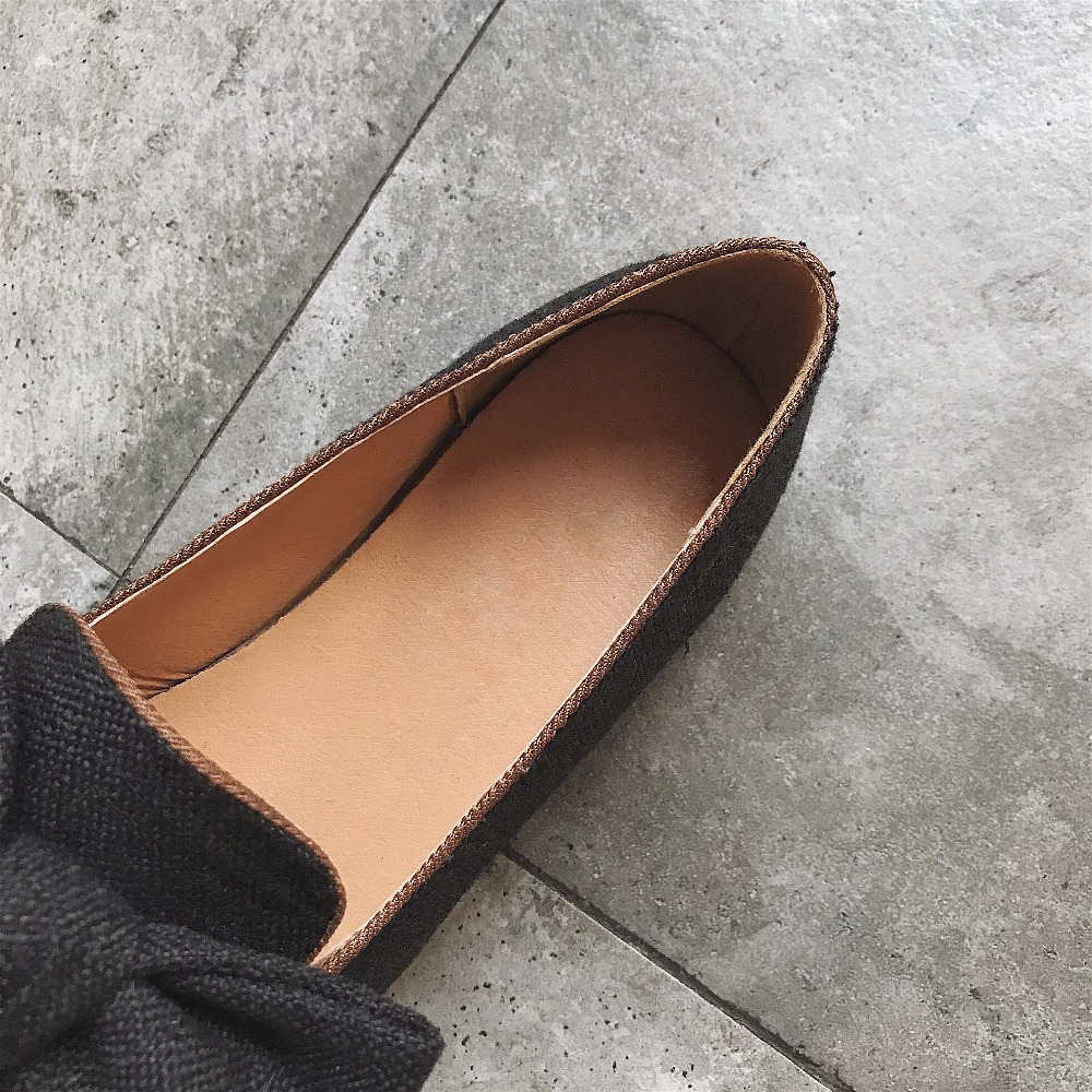 amarillo Mujer On Ocio Mariposa Square Toe Negro Casual 39 35 Zapatos Primavera 2018 caqui Famosa Sólido Tamaño Slip nudo WqnP1TC