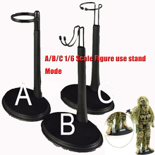 3pcs U Type B Stand/A Stand/C Stand 3 Styles with Name Plate Base for 1/6 12Hot Toys Action Figure Body one stand 1 6 figure body metal y display stand for 12 inch action figure headplay ttl hot toys soldier and doll shows