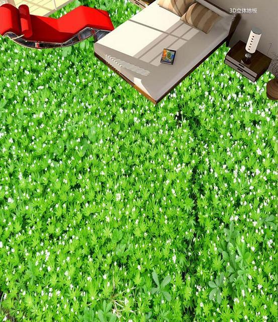 3d flooring grass flowers and green leaves white flowers 3d floor 3d flooring grass flowers and green leaves white flowers 3d floor painting 3d wallpaper pvc floor mightylinksfo