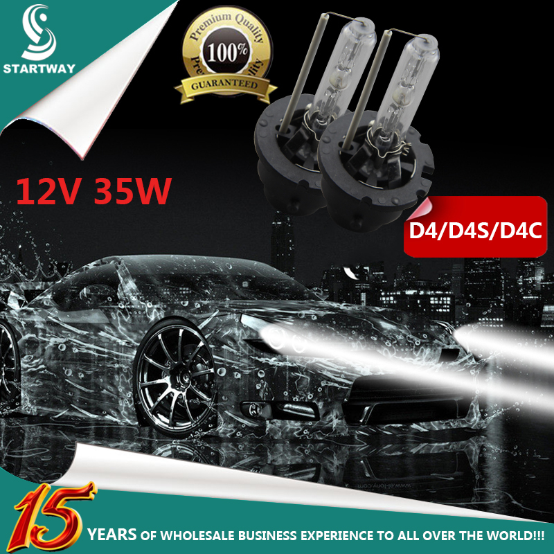 D4C/D4S/D4 Car Headlights 12V 35W 1Pair HID Xenon Bulbs 4300K 5000K 6000K 8000K 10000K d