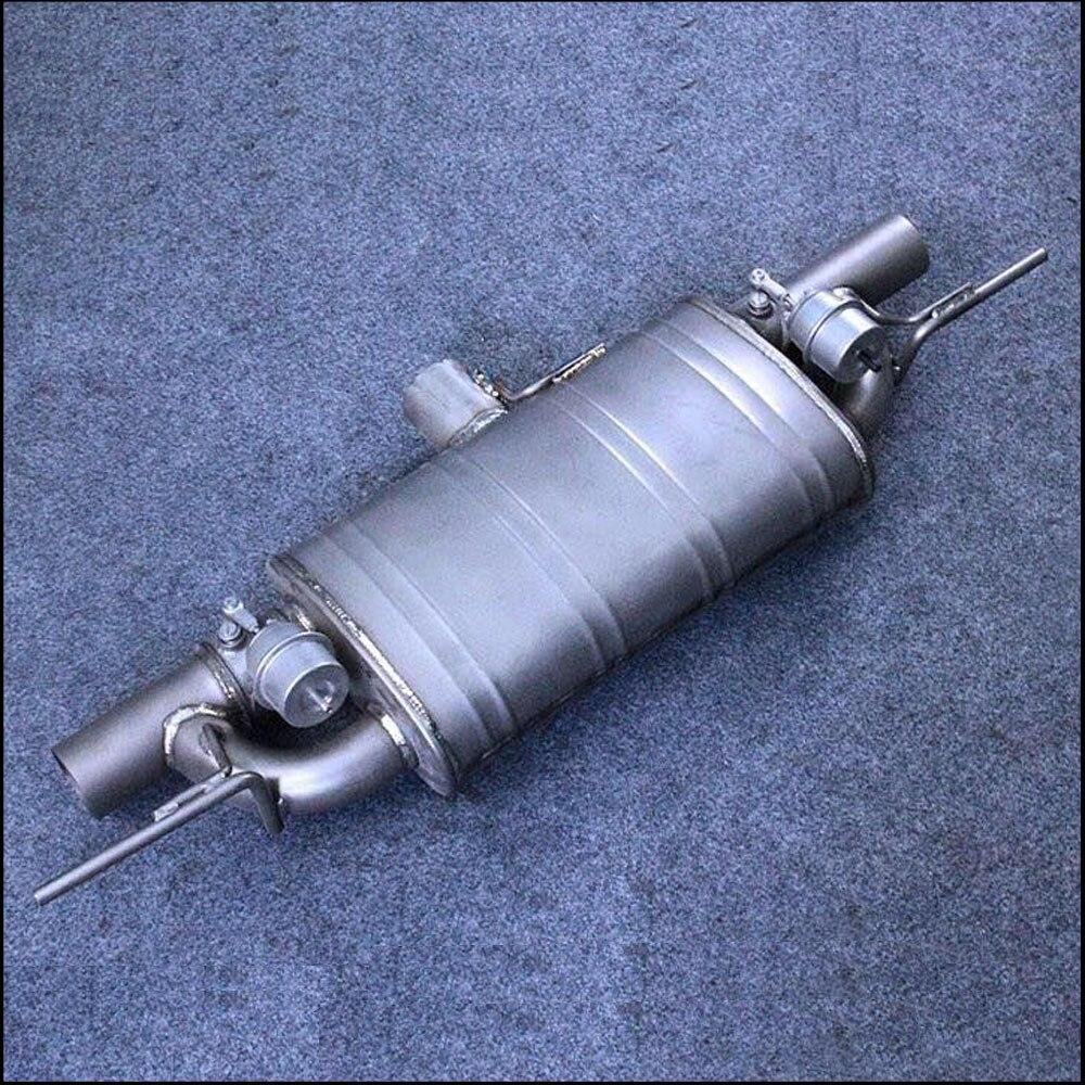 Автомобиль изменение двойной клапан управления гоночный звук выхлопной трубы 2 2,5 3 дюймов диаметр Титан legering Материал T тип глушитель