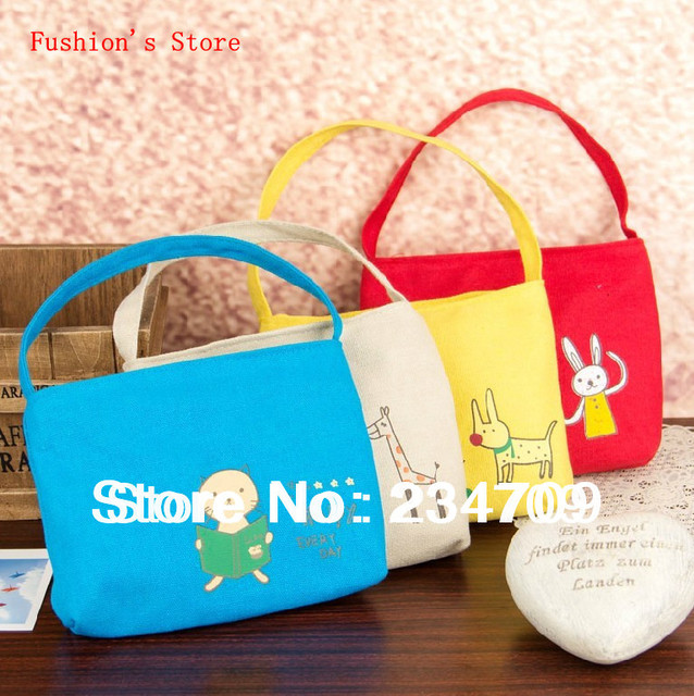 Free shipping,hot!Han edition cute animals bags,canvas handbags,women messenger bags,cosmetic bag&cases,makeup bag,1 pcs/lot