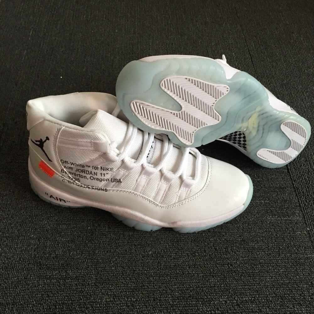JORDAN Basketball Shoes Air Retro 11 XI Low help JORDAN 11 Off White Sneakers Men Basketball Shoes Jordan 11 Off White все цены