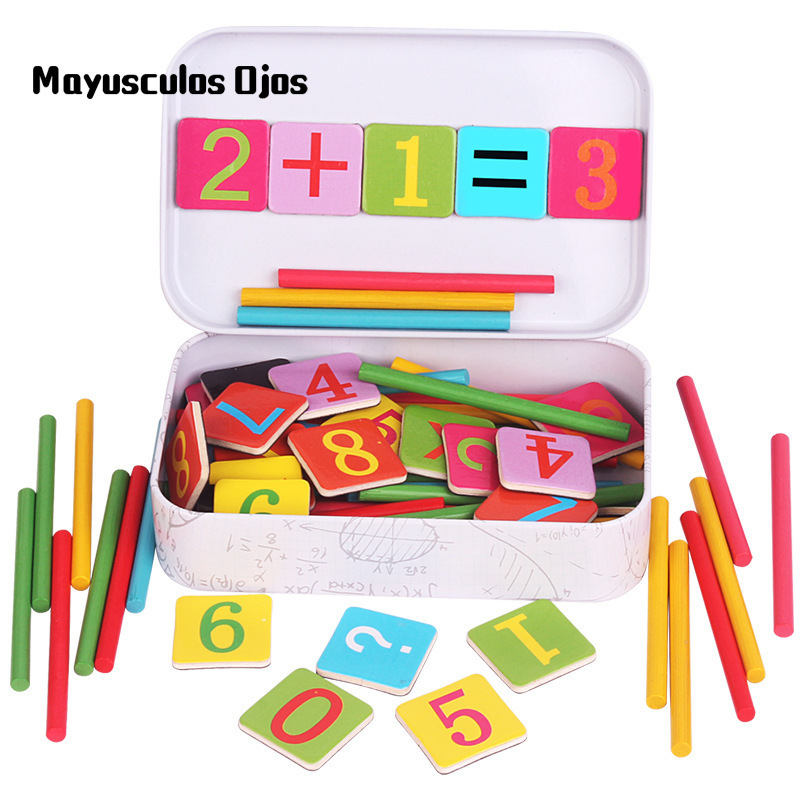 ZH 1Set Children's Clock Counting Rod Kindergarten Teaching Aids Baby Early Learning Enlightenment Educational Toys