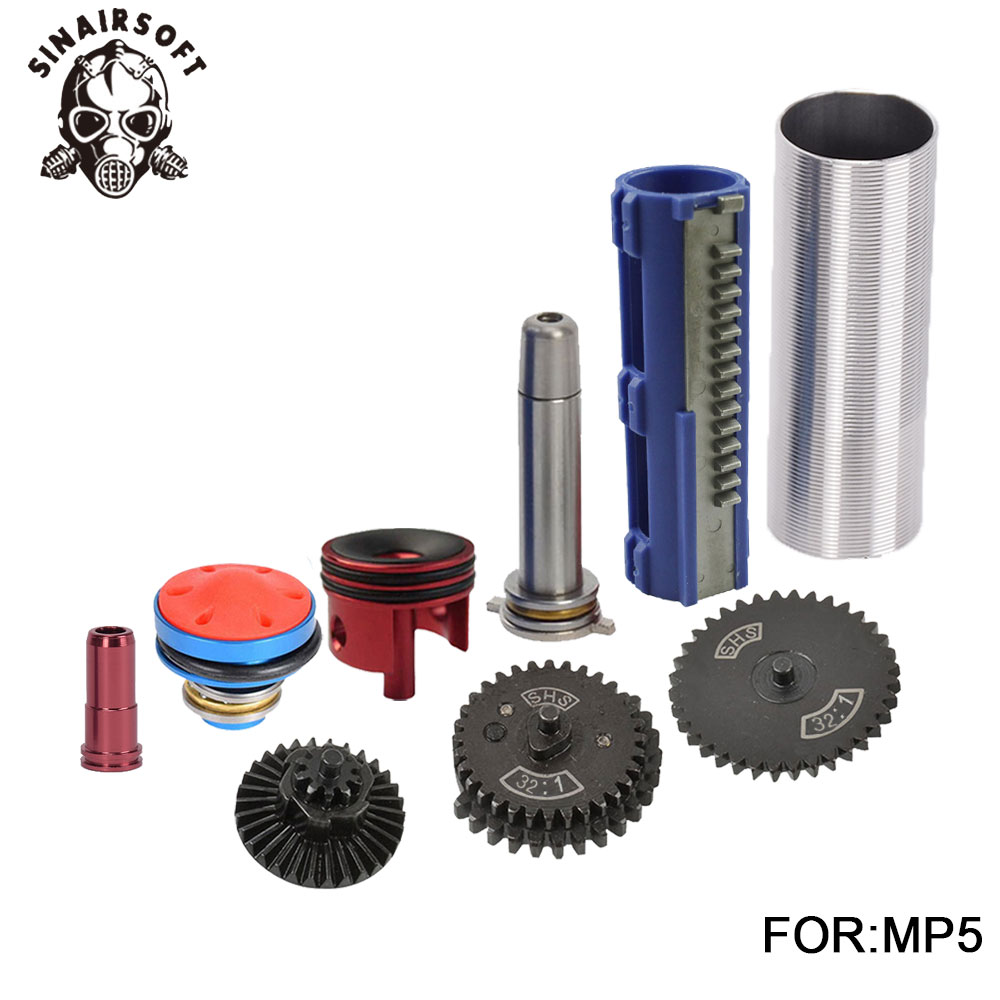 SHS-32-1-Gear-Nozzle-Cylinder-Spring-Guide-14-Teeth-Piston-Kit-Fit-Airsoft-AK-MP5 (3)