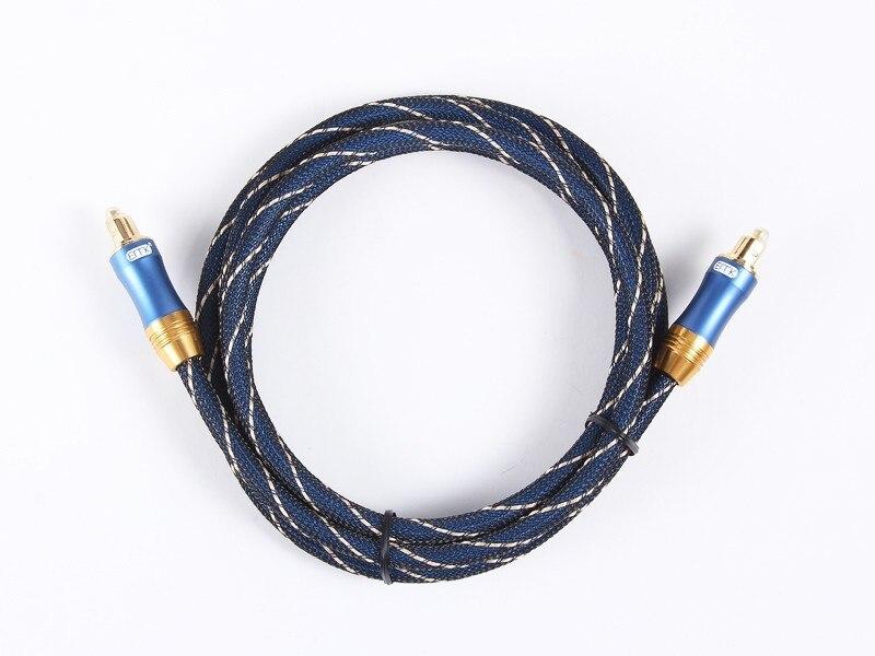 OD6.0mm Alta calidad Azul Digital Óptica óptica Fibra Toslink Audio - Cables de computadora y conectores - foto 6