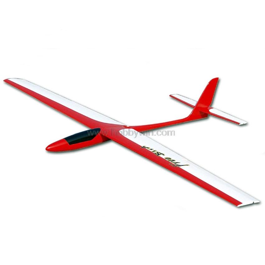 FlyFly Hobby Fiberglass Free Bird Glider 1450mm ARF without electronic parts Unpowered RC Sailplane стоимость