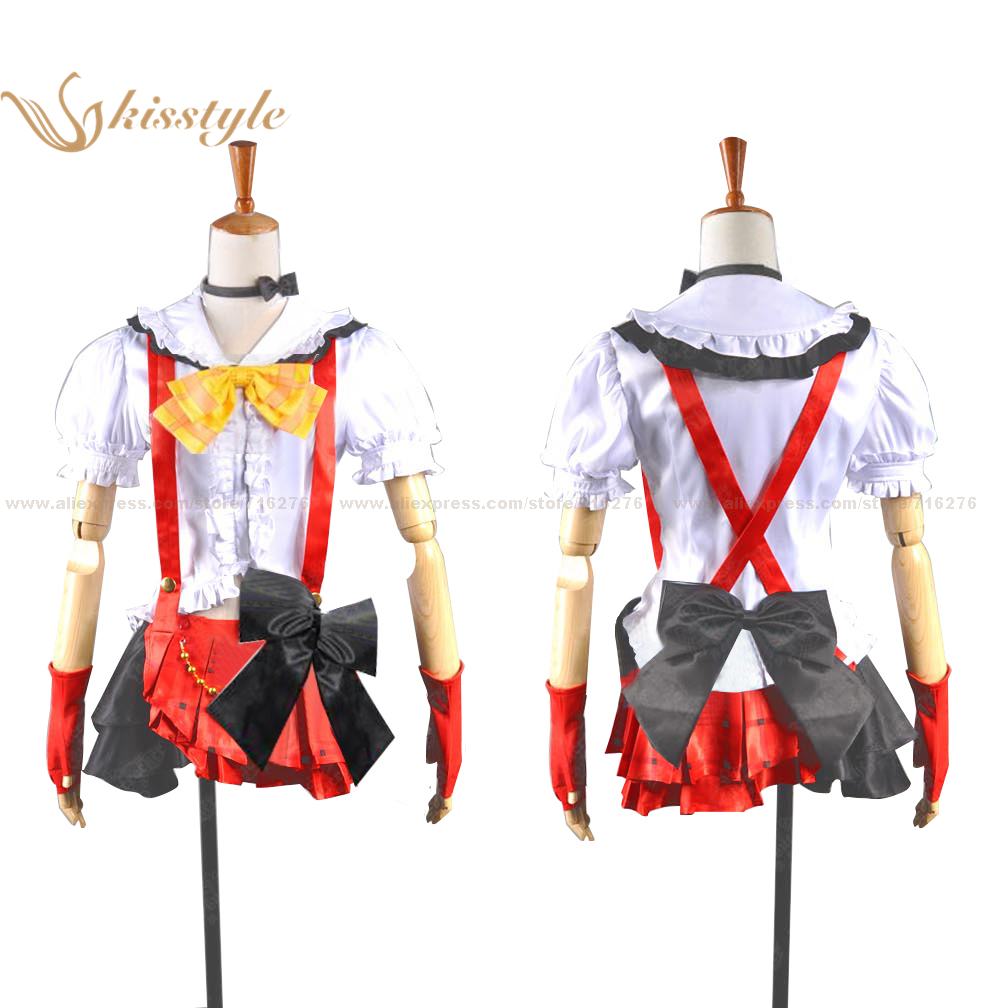 Kisstyle Fashion Love Live! School Idol Project Honoka Kosaka Stage Wear Uniform Cosplay Costume,Customized Accepted