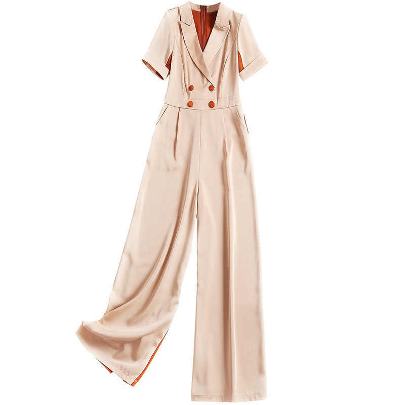 Shuchan офис леди 2019 женские дизайнерские Комбинезоны Женская Кнопка Высокая мода корейский сплошной Женский комбинезон одежда Новинка 51232