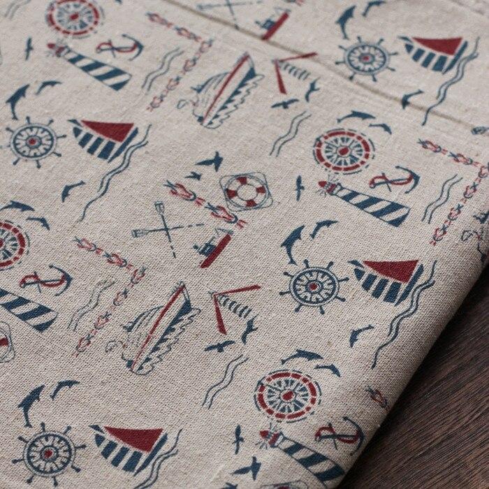 6ab775ad5 Newest150x50cm estilo Marina zakka tela de algodón de lino patchwork textil  para coser DIY cama manteles tejidos sofá en Tela de Hogar y Jardín en ...